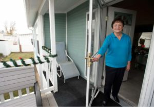 (Steve Griffin | Tribune file photo) Shirlene Stoven, 80, at her residence at the Applewood Mobile Home park in Midvale on Friday, Dec. 9, 2016. Manufactured-home residents in Utah remain vulnerable to exploitation by park owners as highlighted by a recent legislative study. Source: http://www.sltrib.com/opinion/4747820-155/editorial-put-some-teeth-in-utah